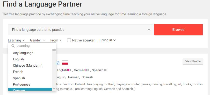 Italki Language Partner
