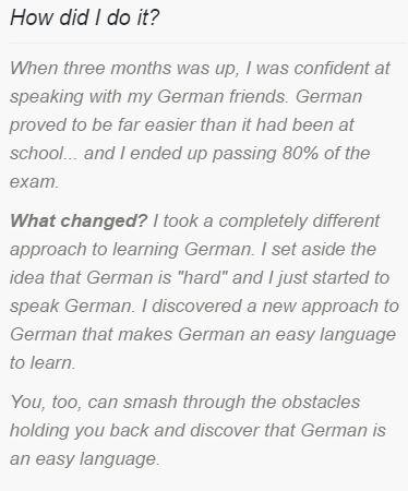 Why German is Easy