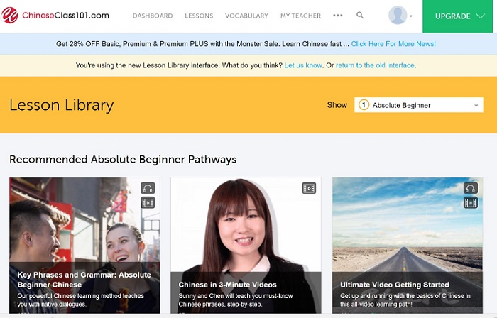chineseclass101 Lesson Library